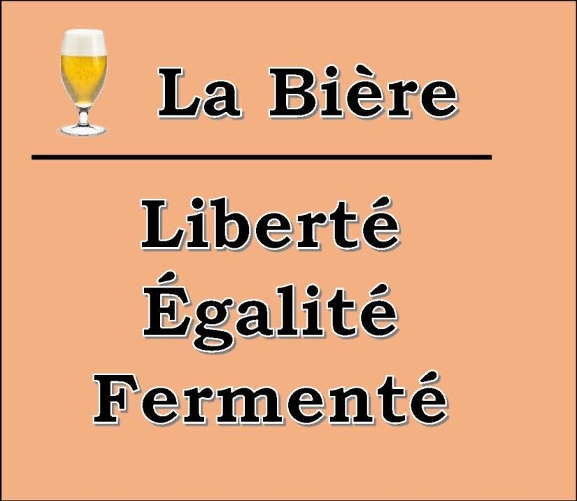 La Bière Slogan Orange